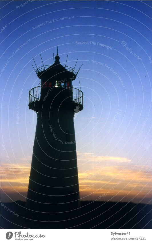 Germany Europe Lighthouse Dusk Sylt