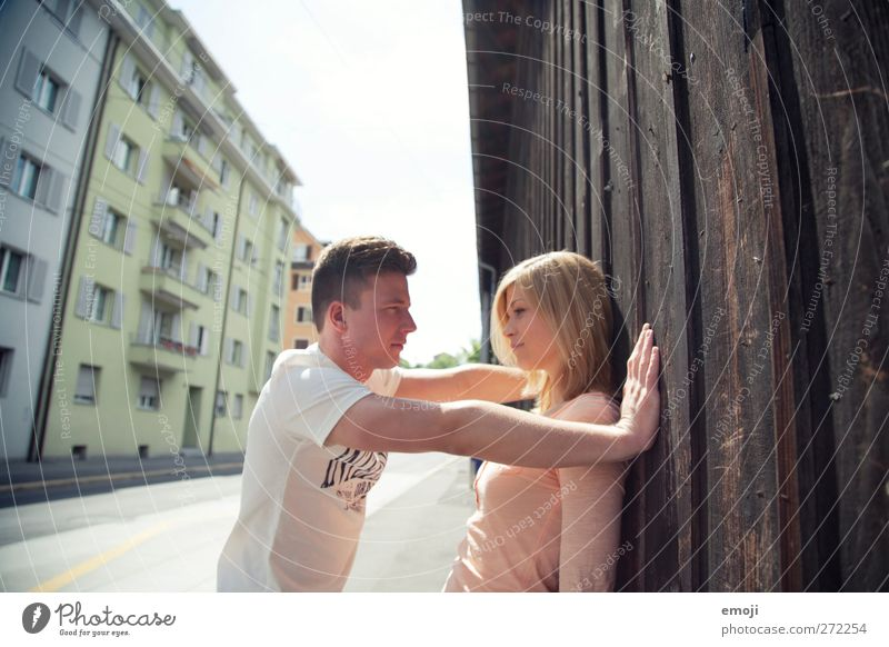 XXXY Human being Young woman Youth (Young adults) Young man Couple 2 18 - 30 years Adults Beautiful Colour photo Exterior shot Day Shallow depth of field