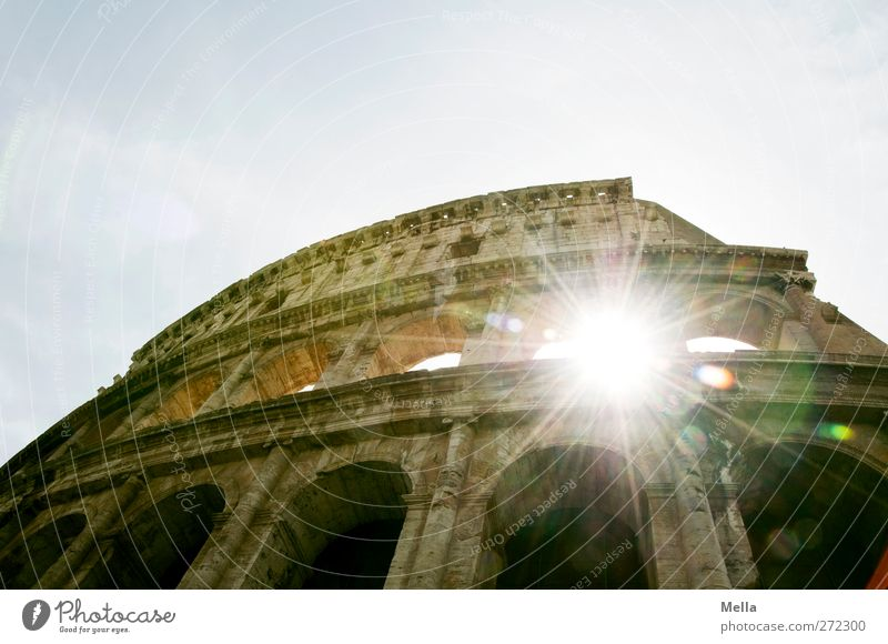 The Colossus Vacation & Travel Tourism Sightseeing City trip Architecture Culture Rome Italy Europe Town Capital city Deserted Ruin Manmade structures Colosseum