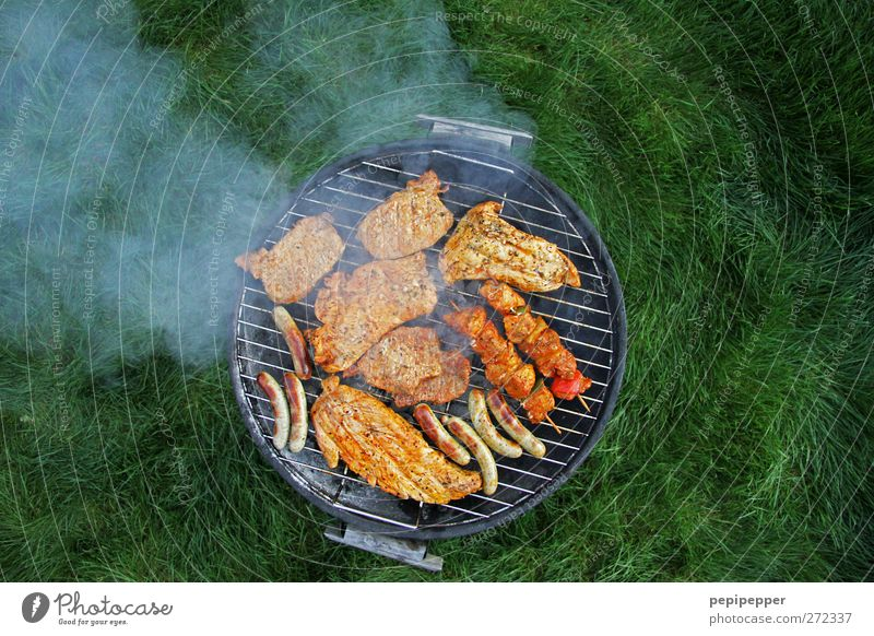 Meadow Nutrition Things Dish Smoke Delicious Camping Meat Picnic Barbecue (apparatus) Sausage Bratwurst Vacation & Travel Grill Landscape format Kebab