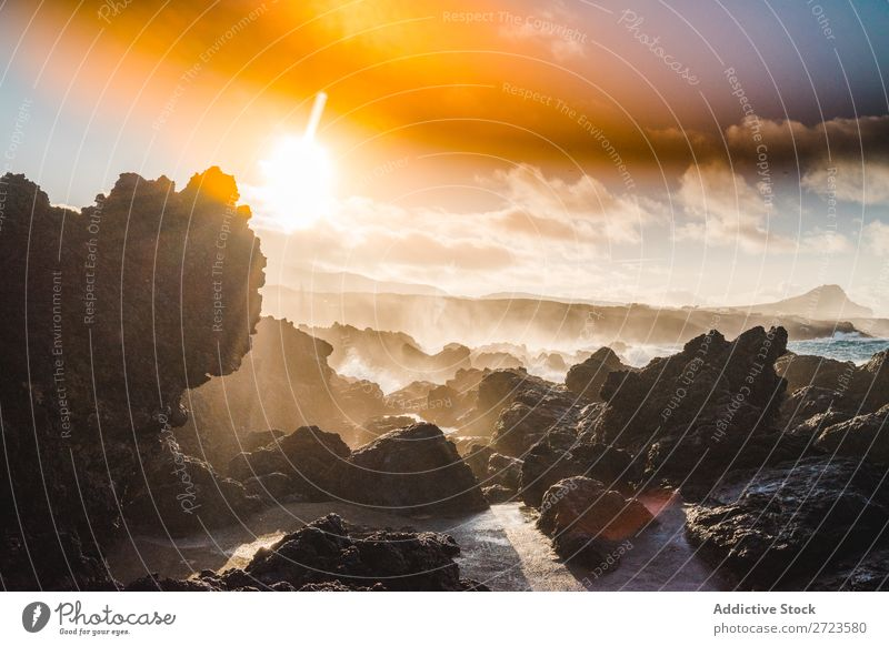 closeup of some rocks on the beach Beach Rock Water Blue Lake Sky Colour Ocean Wave White Nature Sunset Pattern Stone Background picture Deserted Clouds Round