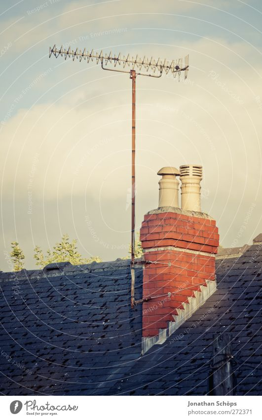 British roofs III Small Town Outskirts House (Residential Structure) Detached house Roof Chimney Antenna Esthetic Receive Technology Archaic England