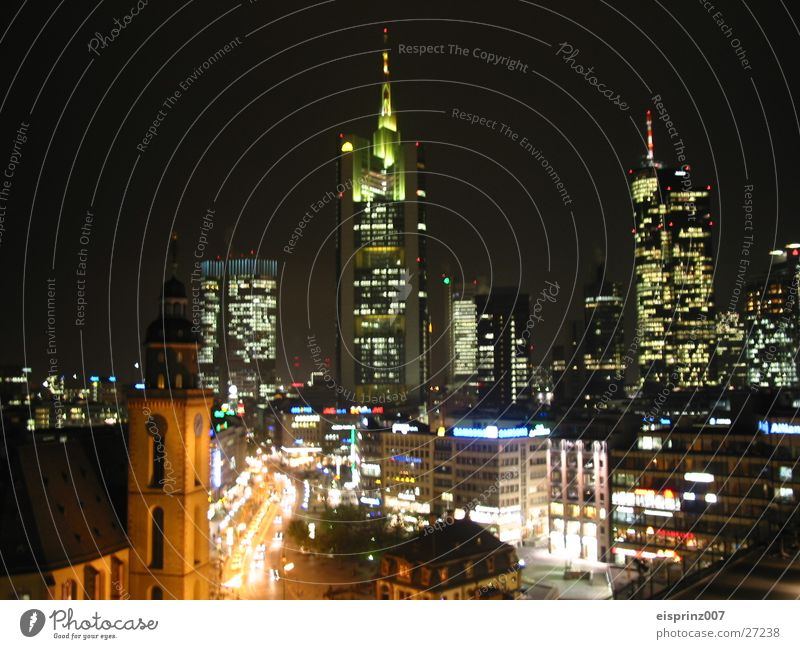 night live Frankfurt High-rise Night life Architecture