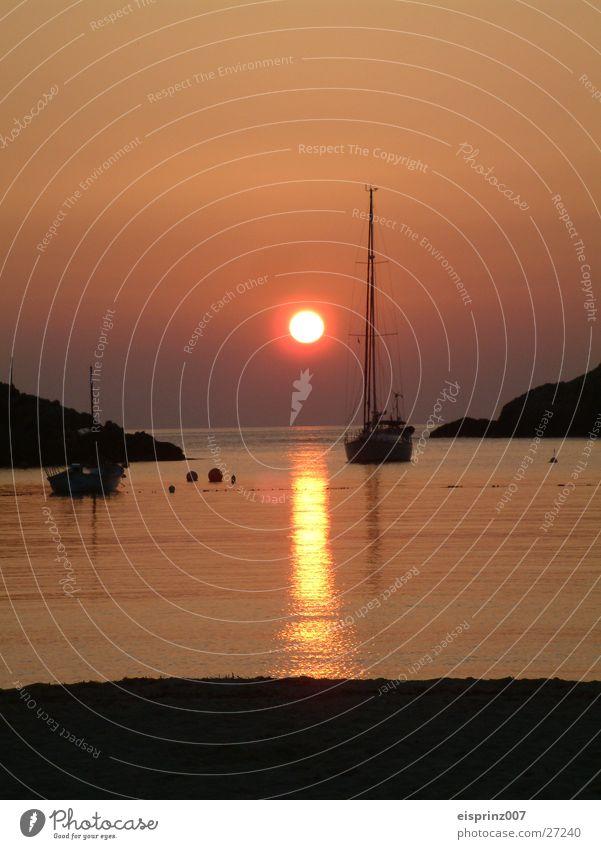 ibiza romance Sunset Sailboat Beach Night Evening sun