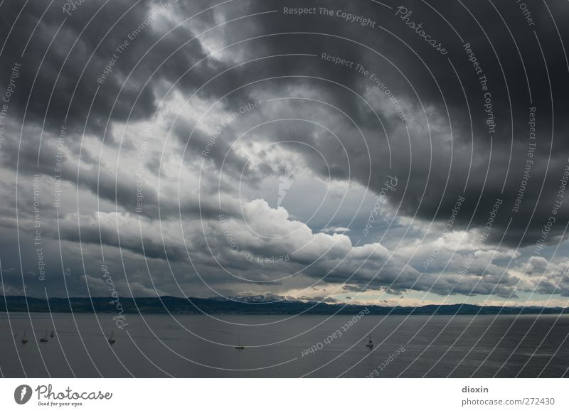 Sky Nature Water Clouds Environment Landscape Cold Lake Weather Wind Fear Climate Wet Elements Threat Alps