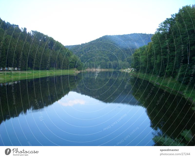 Water Summer Mountain Lake Poland Reservoir Silesia