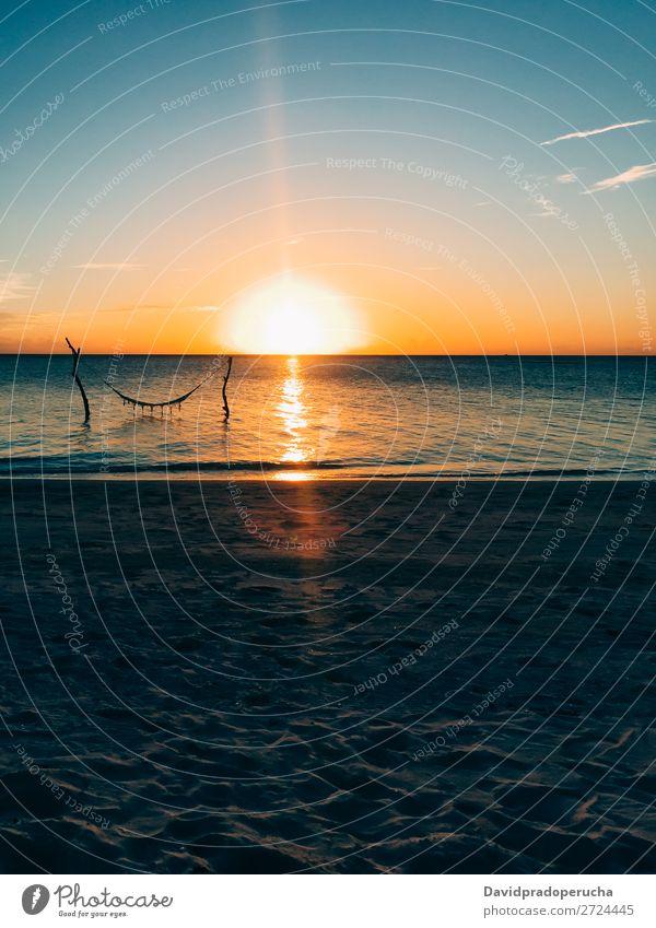 Maldives island luxury beach resort sunset Sunset Beach Hammock Sand Swing Vacation & Travel Ocean Relaxation Resort Lagoon Dream Island Idyll Luxury scenery