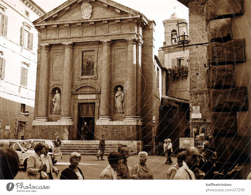 Sienna - Italy Tourist Attraction Europe Siena Religion and faith Mediterranean Sepia Black & white photo