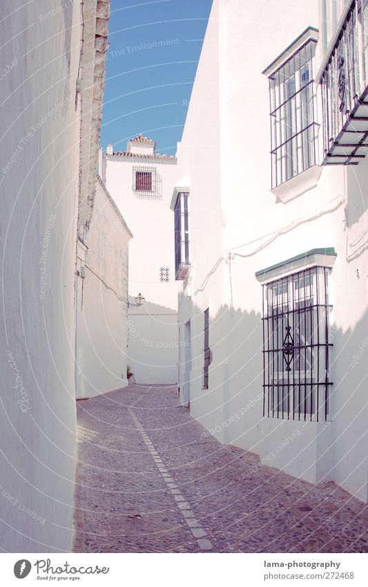 White House (Residential Structure) Wall (building) Lanes & trails Wall (barrier) Bright Facade Village Spain Downtown Alley Old town Mediterranean Andalucia