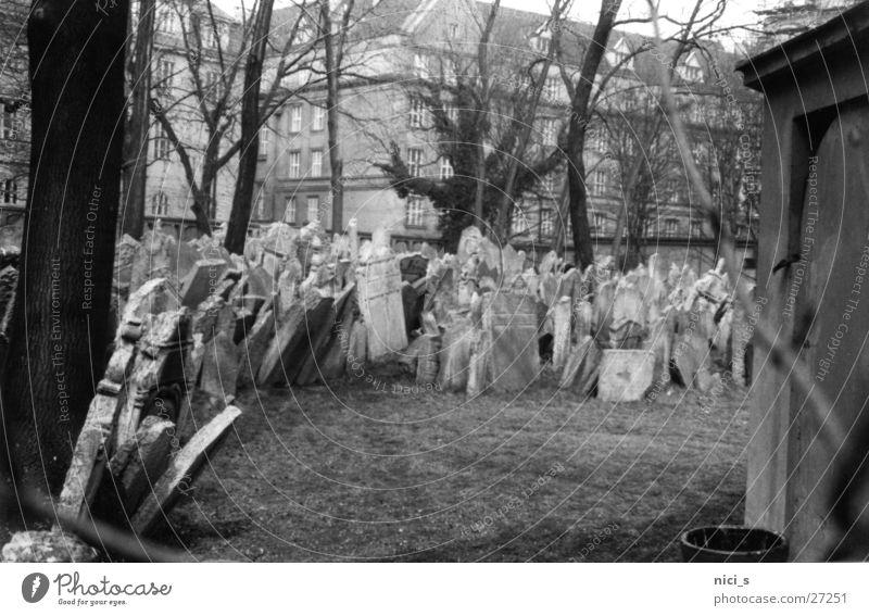 sepulchers Cemetery Grave Prague Art nouveau Tombstone Landmark Historic Death Black & white photo
