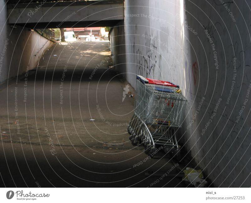 Feet Transport To go for a walk Tunnel Sidewalk Shopping Trolley Underpass