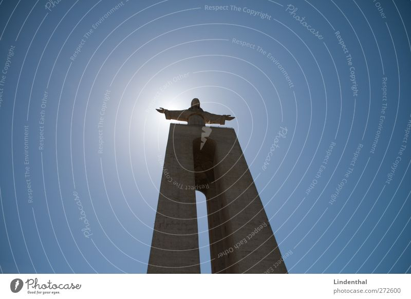 Bellbottoms Jesus Jesus Christ Christianity Lisbon God Awareness Light Sun Sky Blue Flares Might Large Tall Come Statue Religion and faith