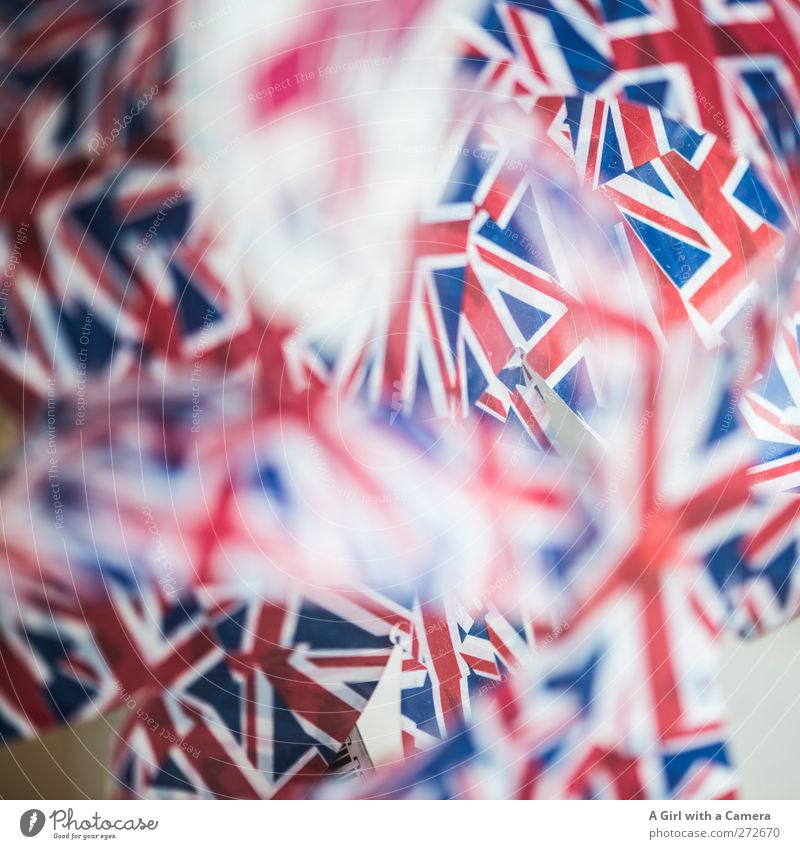 Union Jacks Sign Flag Blue Red White Patriotism Ensign English Symbols and metaphors Colour photo Multicoloured Interior shot Close-up Detail Abstract Pattern