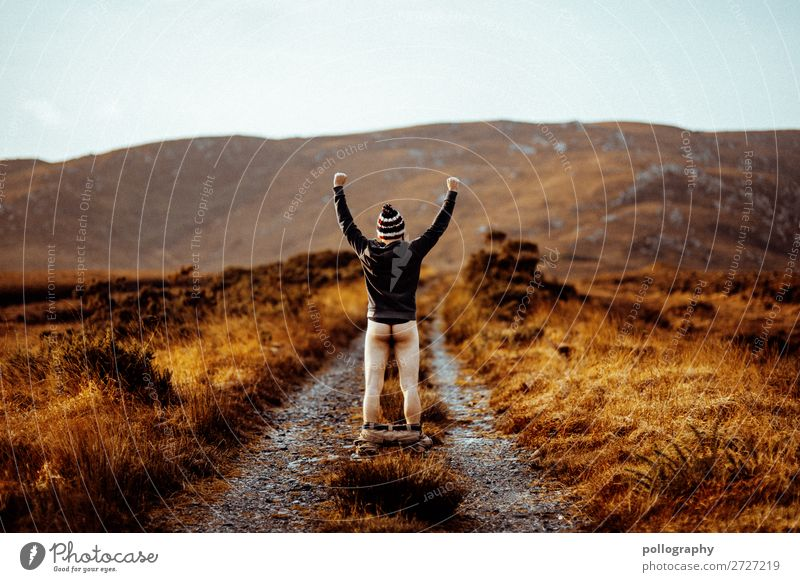 Human being Nature Man Landscape Joy Far-off places Mountain Lifestyle Adults Autumn Lanes & trails Style Freedom Rock Trip Leisure and hobbies
