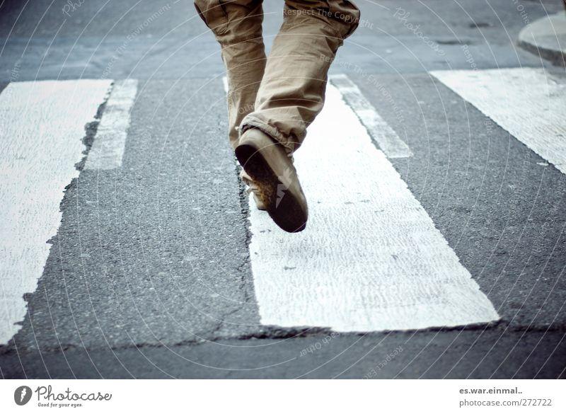 be in progress Walking Zebra crossing Going Speed Colour photo Subdued colour Legs Trouser leg Haste Dynamics Traverse