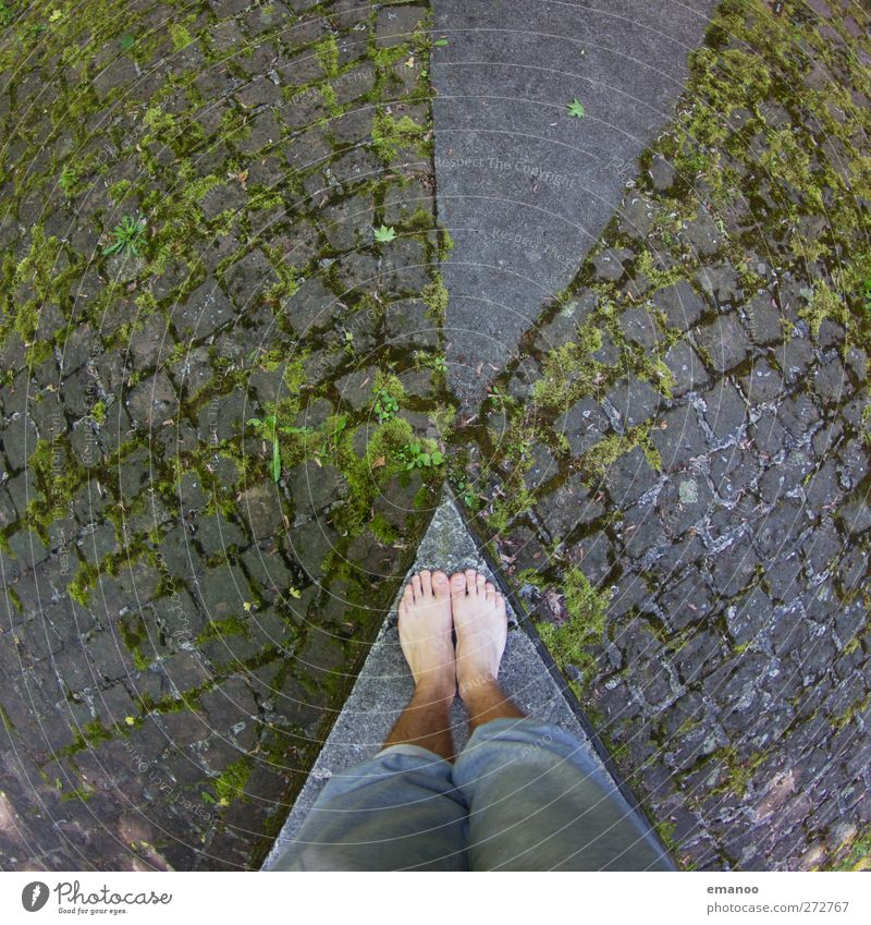 Human being Green City Street Architecture Gray Feet Line Park Masculine Tall Places Concrete Stand Floor covering Corner