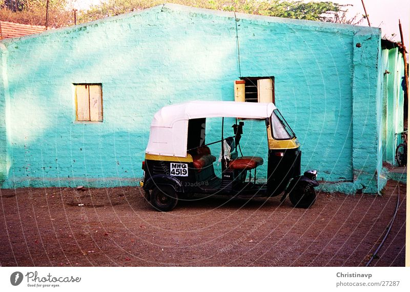 Riksha1 India Turquoise Vehicle Mobility Parking lot Break Taxi Transport rickshaw Vacation & Travel Tuc-Tuc