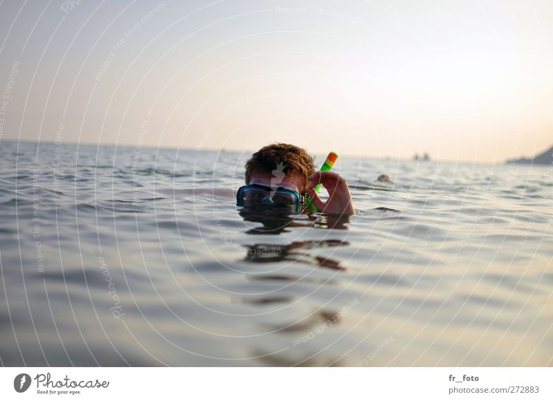 Human being Youth (Young adults) Water Vacation & Travel Hand Summer Ocean Adults Head Horizon Young man Swimming & Bathing 18 - 30 years Leisure and hobbies