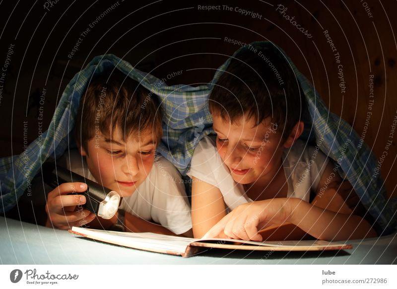 Human being Child Friendship Infancy Book Study Sleep Reading Curiosity Education 8 - 13 years Student Flashlight Lamp Night