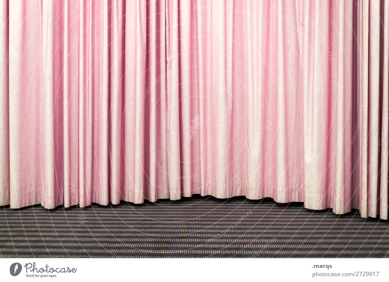 Pink curtain Entertainment Event Stage Culture Shows Drape Simple Colour photo Interior shot Structures and shapes Deserted Copy Space left Copy Space right