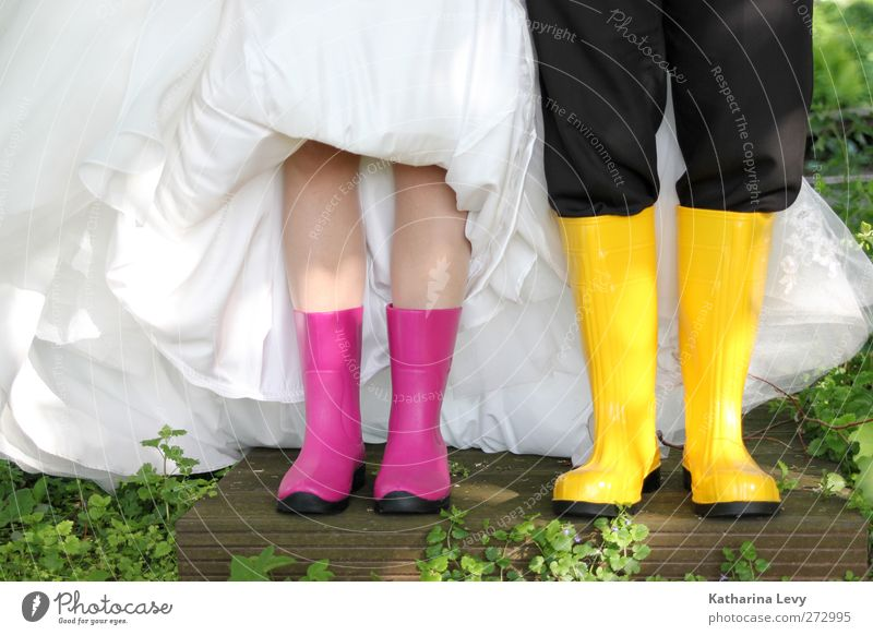 White Black Yellow Style Fashion Couple Together Pink Exceptional Fresh Crazy Wedding Lifestyle Clothing Uniqueness Dress