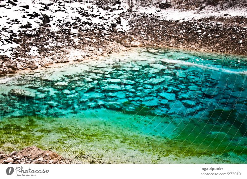 Nature Blue Water Plant Winter Environment Landscape Cold Snowfall Ice Earth Rock Climate Exceptional Glittering Elements