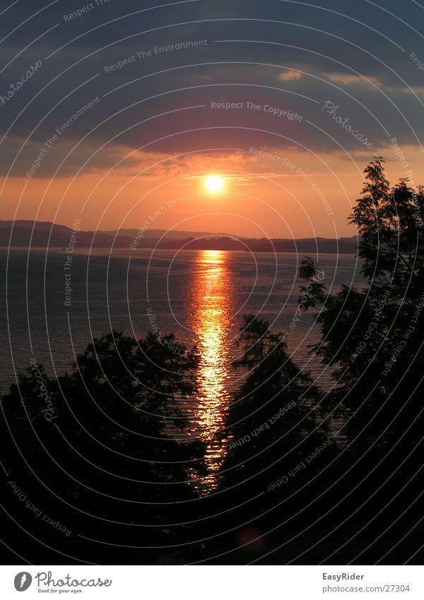 Sunset Lake Lake Lucerne Water