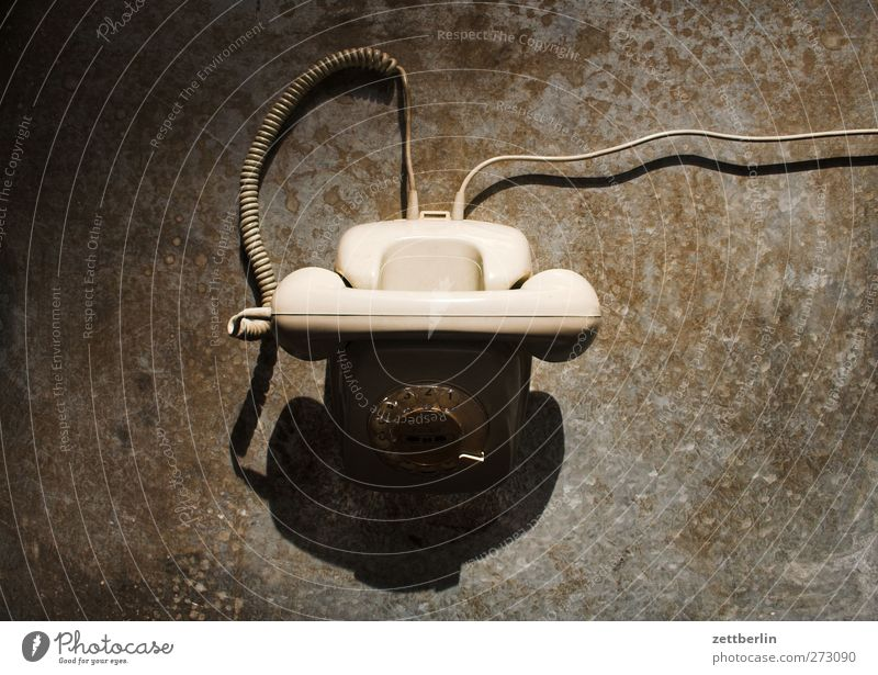 Phone Office work Media industry Advertising Industry Telecommunications Telephone Information Technology Old Gadget Rotary dial Classic Connection Colour photo