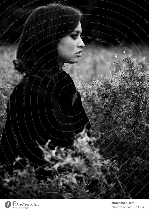 field 1 Human being Beautiful Black & white photo Emotions Unemotional Emotionally cold Callousness Meaning Sensuous To enjoy Nature Love of nature Calm Rest