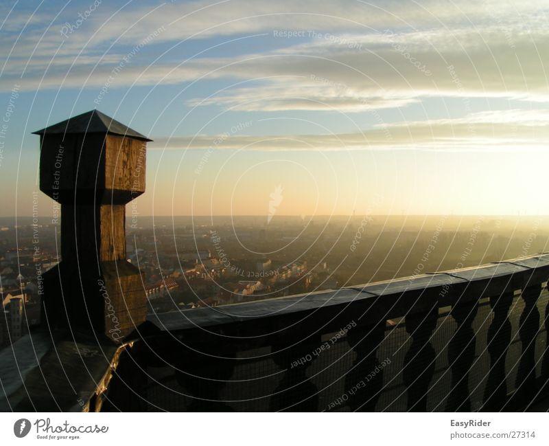 Sky Far-off places Architecture Vantage point Tower Handrail Merlon