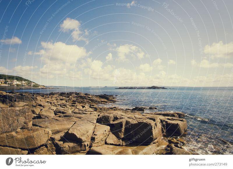 Sky Nature Blue Water Vacation & Travel Sun Summer Ocean Clouds Environment Landscape Coast Stone Bright Horizon Earth