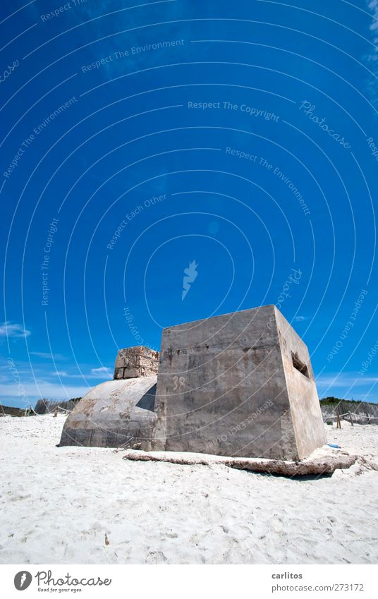 Nature Blue Old White Summer Beach Sand Air Going Concrete Round Beautiful weather Manmade structures Dune Ruin Cloudless sky