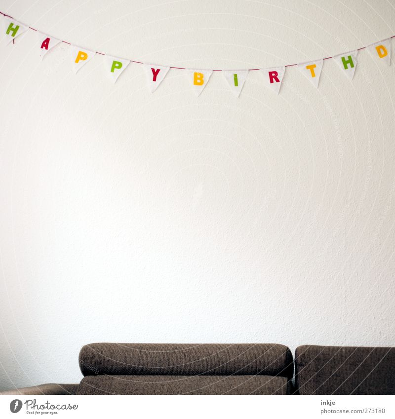cracker party Living or residing Decoration Sofa Room Living room Party Feasts & Celebrations Birthday Paper chain Characters Flag Hang Gloomy Brown