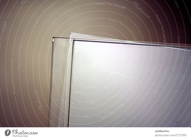 glass Glass Emotions Pane Slice Window pane Glazier Supply Material Storage Reflection Colour photo Subdued colour Interior shot Detail Deserted Copy Space left
