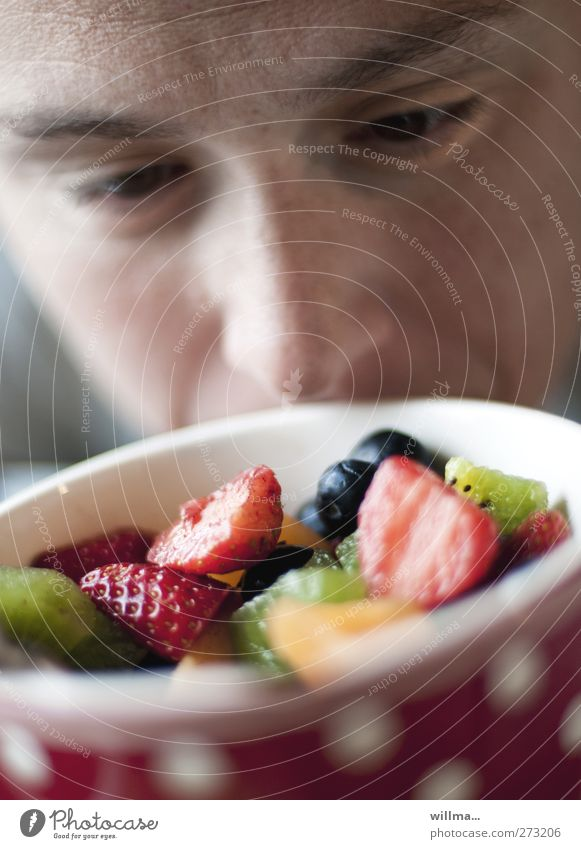 Human being Face Eyes Fruit Nose Nutrition Healthy Eating Appetite Breakfast Delicious Fragrance Odor Bowl Select Juicy Strawberry
