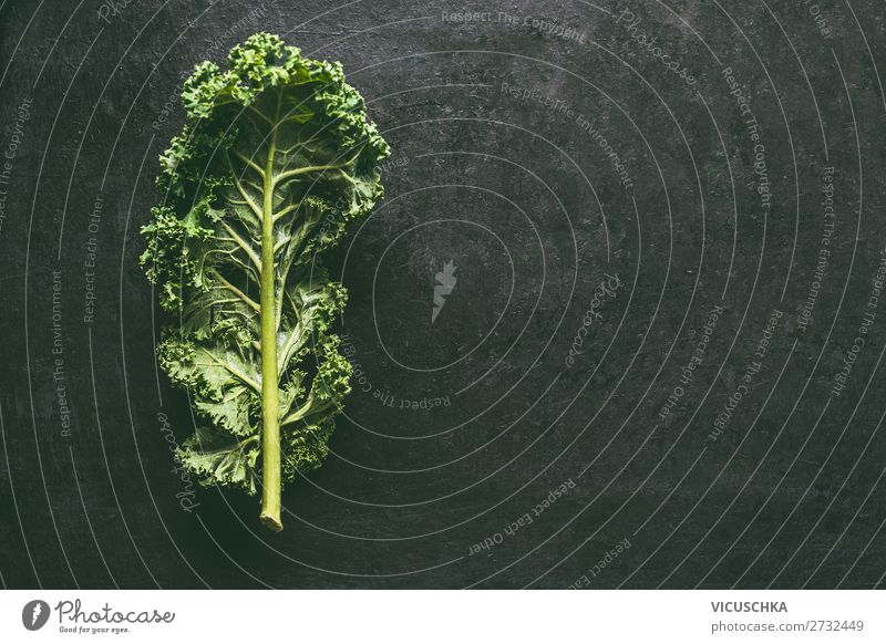 Kale leaf Food Vegetable Nutrition Organic produce Vegetarian diet Diet Style Design Healthy Healthy Eating Table Restaurant Nature Background picture Vitamin
