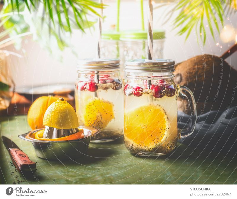 Healthy Eating Summer Food Lifestyle Style Fruit Living or residing Design Orange Glass Table Fitness Drinking water Beverage Lemon