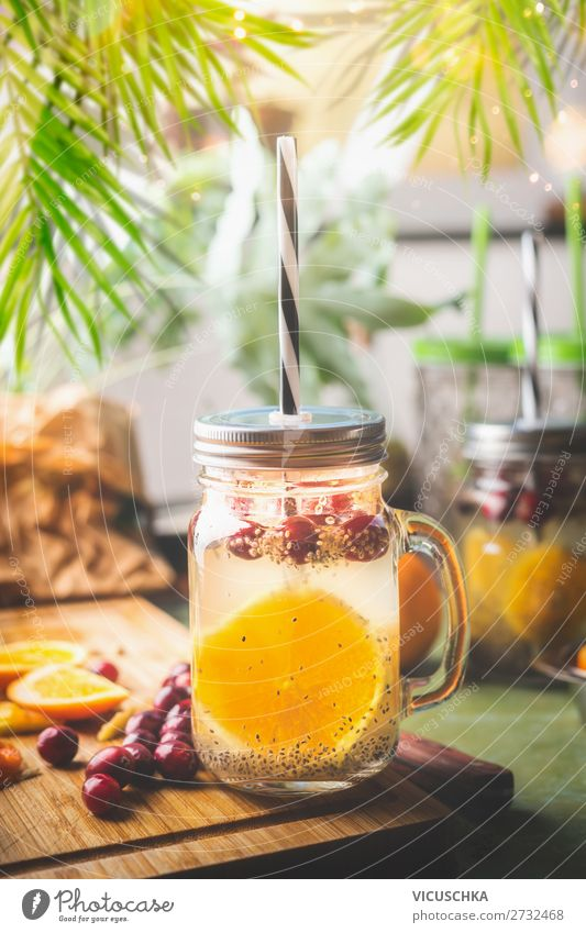 Healthy Chia Seed Drink Food Nutrition Breakfast Beverage Cold drink Drinking water Lemonade Juice Style Design Healthy Eating Summer Fitness chia Cowberry