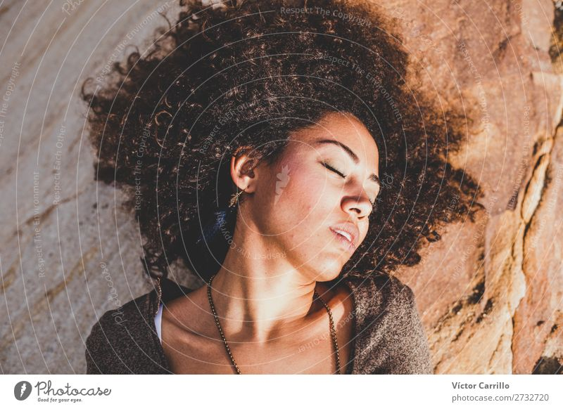 A dreaming young woman in the sun Lifestyle Shopping Elegant Style Design Exotic Human being Feminine Young woman Youth (Young adults) Woman Adults 1