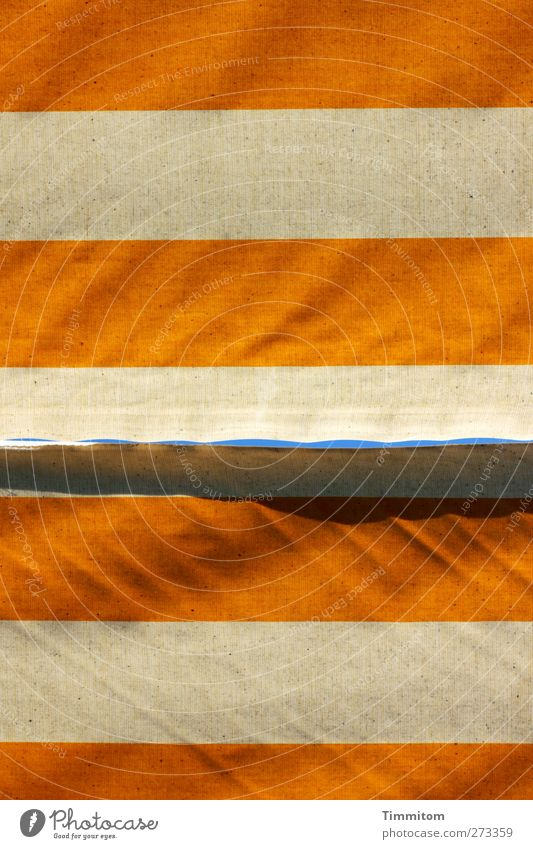 Sky Blue White Yellow Dream Line Wait Living or residing Stripe Protection Wrinkles Sun blind