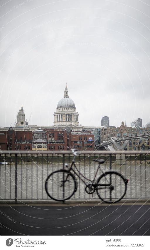 bike out of focus Leisure and hobbies Vacation & Travel Tourism Bicycle London Great Britain Europe Capital city Downtown Skyline Deserted