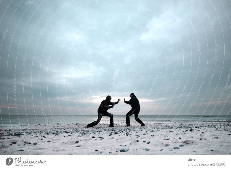 Hiddensee | Remote Control Human being Masculine Man Adults Body 2 Environment Water Sky Clouds Horizon Beautiful weather Coast Beach Baltic Sea Fight Sports