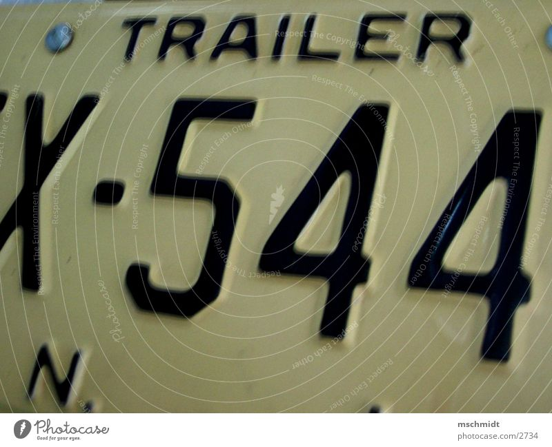 TRAILER 544 Adjectives Number plate New York New York City Truck Transport Detail