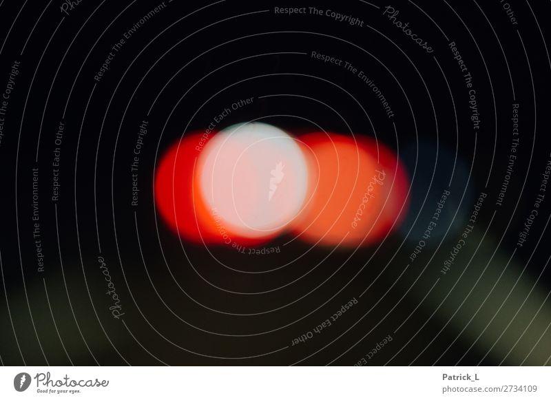 dot. Light Illuminate Funny Round Warm-heartedness Creativity Point of light Refraction Light (Natural Phenomenon) Red White Circle Dark Colour photo