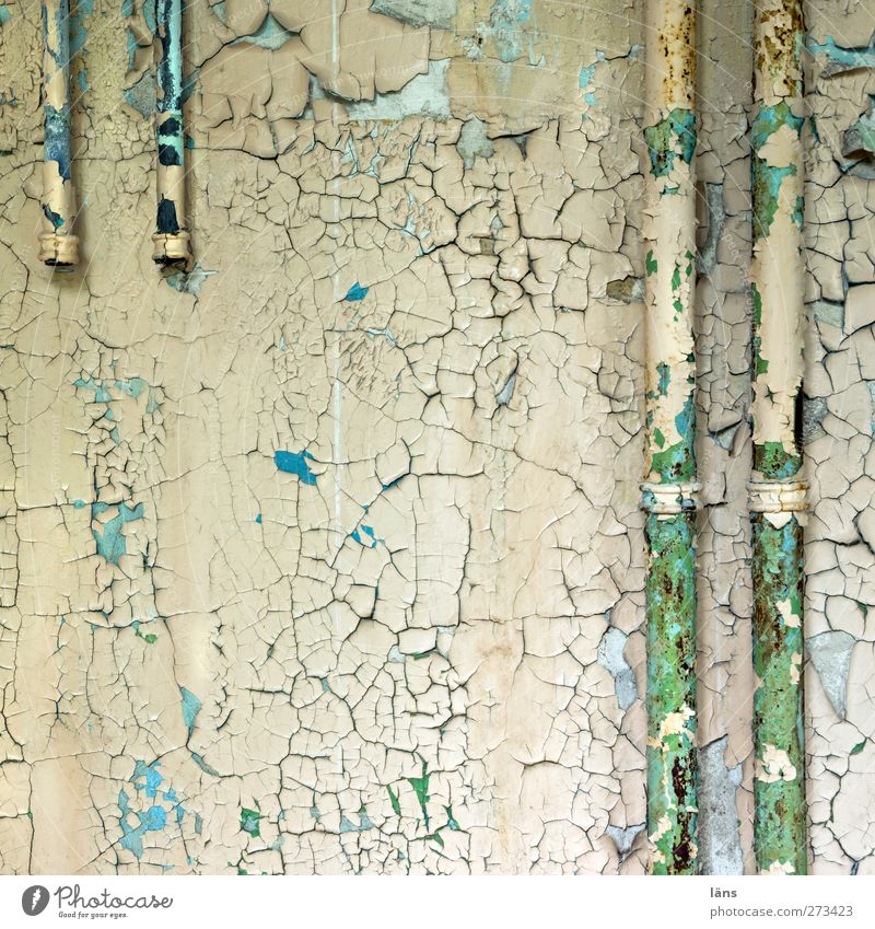 Old Colour House (Residential Structure) Wall (building) Wall (barrier) Building Change Transience Manmade structures Pipe Crack & Rip & Tear Flake off
