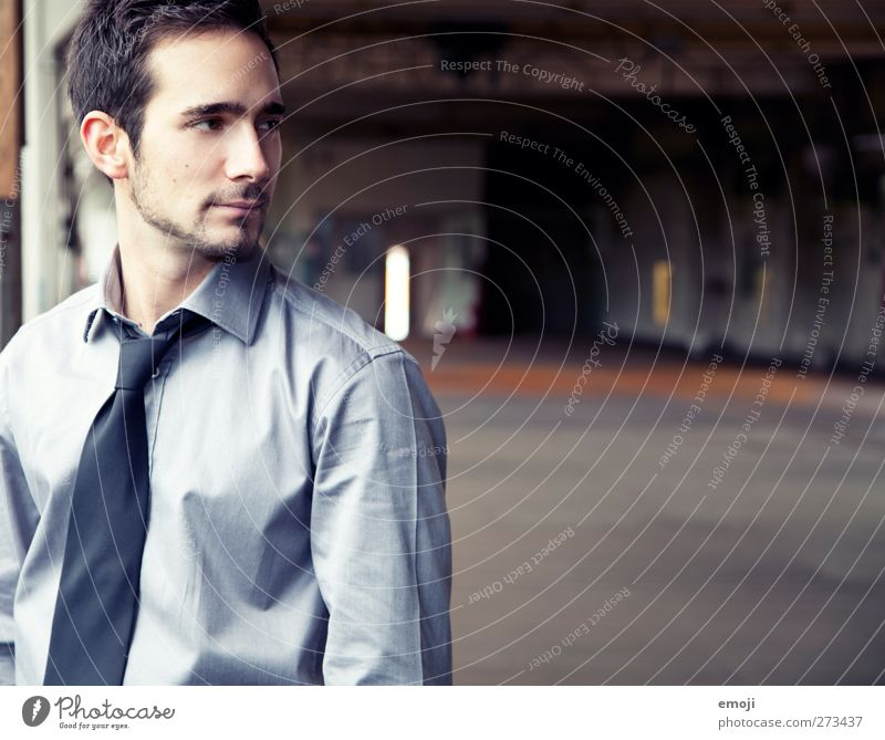 into the picture Masculine Young man Youth (Young adults) 1 Human being 18 - 30 years Adults Fashion Shirt Tie Beautiful Colour photo Interior shot