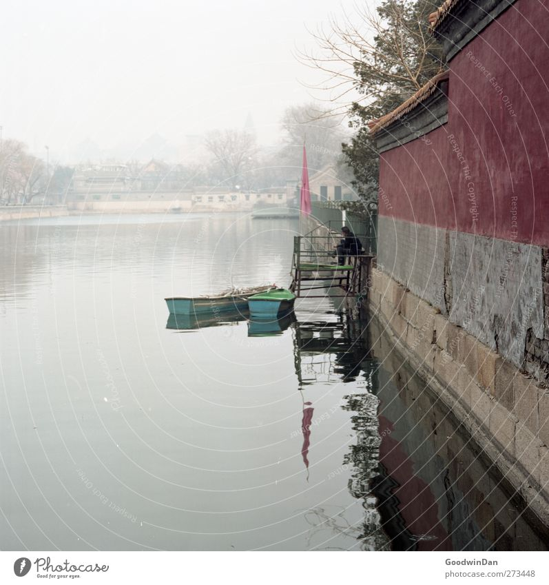 Nature Old Water City Loneliness Environment Cold Wall (building) Wall (barrier) Think Moody Watercraft Facade Wait Gloomy Simple