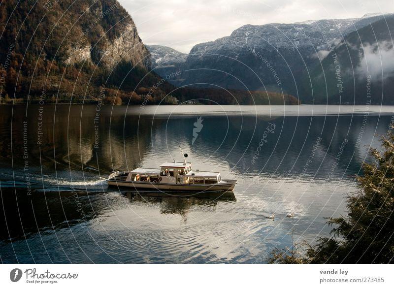 Hallstatt Vacation & Travel Tourism Trip Cruise Mountain Environment Nature Alps Lake Navigation Boating trip Passenger ship Cruise liner Ferry Driving