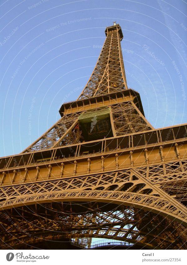 Sky Blue Metal Art Large Tall Europe Might Corner Level Paris Monument France Rust Historic Landmark