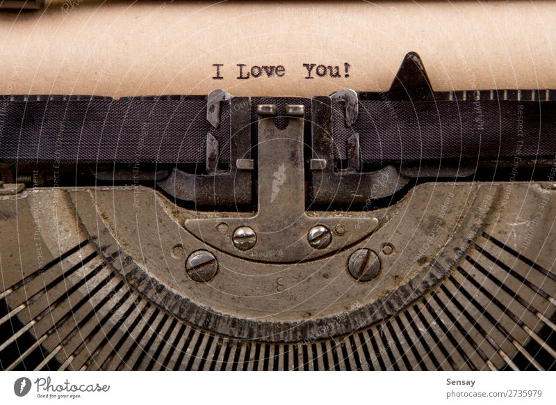 typed words on a Vintage Typewriter Old White Black Love Retro Book Paper Write Word Story Nostalgia Text Conceptual design Communication Writer